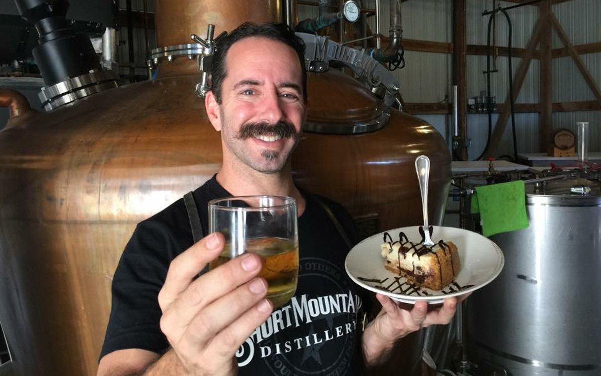 Billy Kaufman of Short Mountain Distillery with moonshine