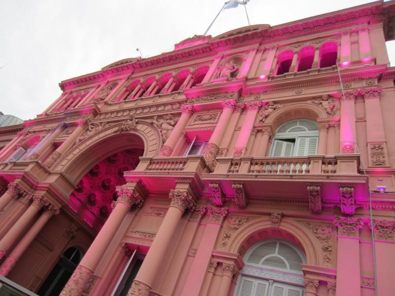 The gorgeous facade of the Casa Rosada