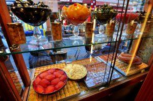 Delicious Turkish desserts in Kadıköy Market.
