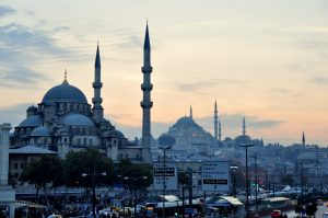 Historic Istanbul's silhouette