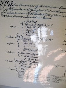 Blount signed Constitution for NC (top name 4th state down)