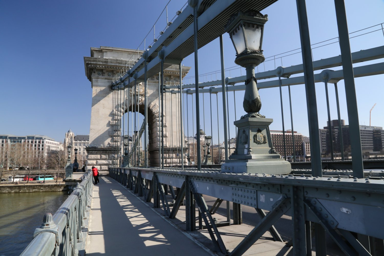 Chain Bridge crossing the Danube River