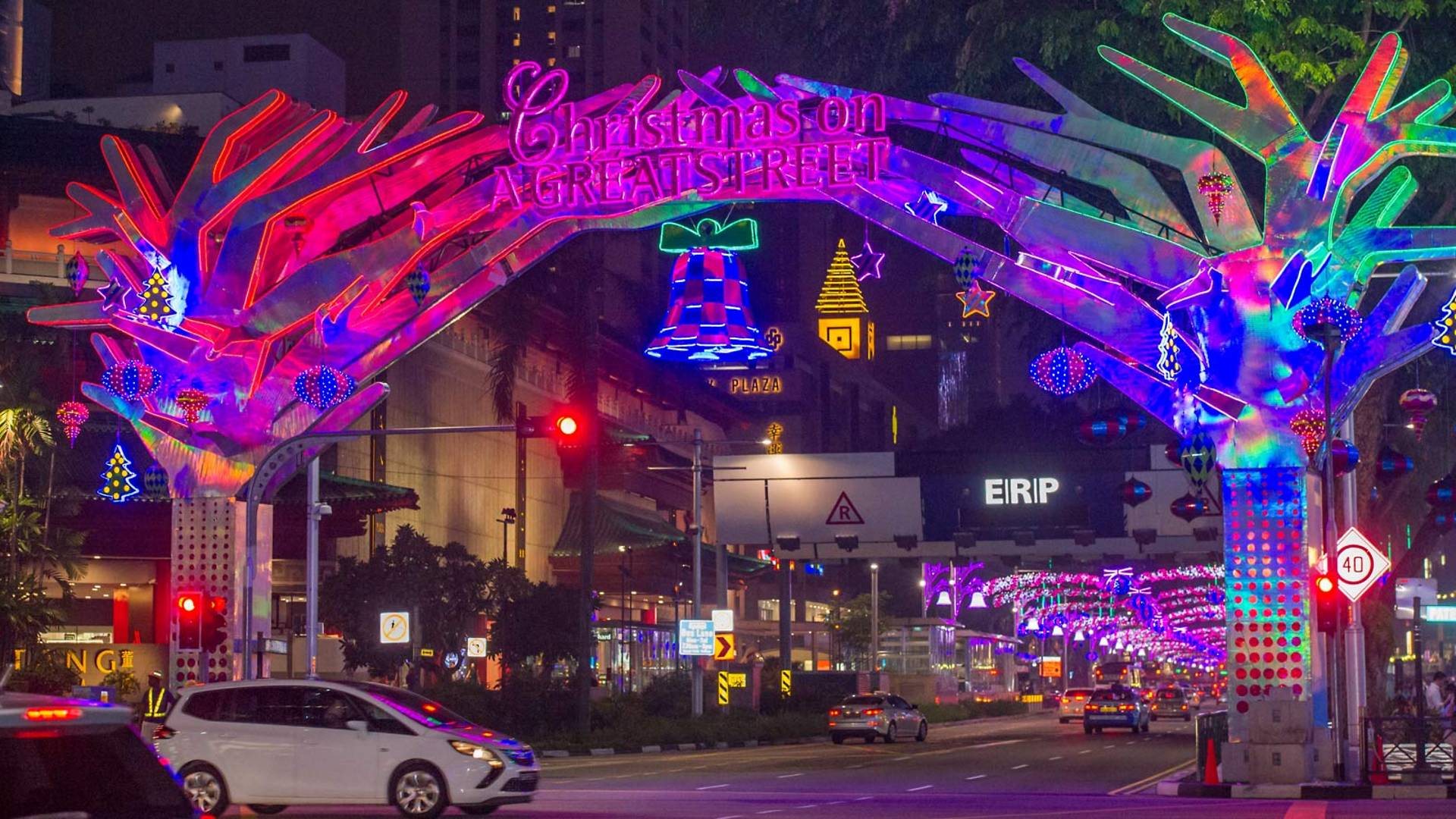 The Orchard Road Christmas Light Up