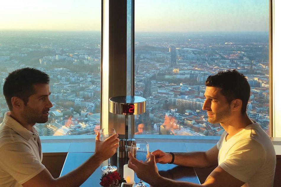 Romantic Berlin meal TV Tower