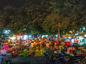 noodle stalls - Chiang Mai Gate, Chiang Mai, Thailand