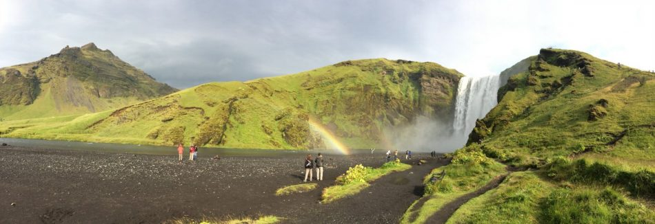 Visiting the Skógafoss waterfall is completely free.