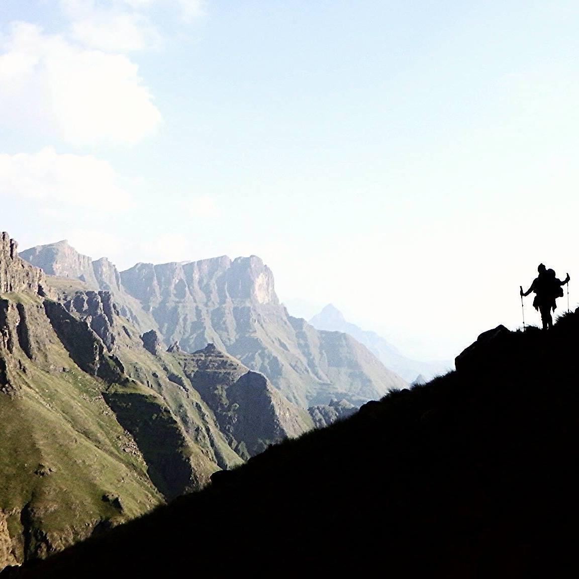 Trekking in South Africa's Drakensberg mountains