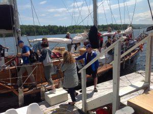 Cape Breton - Baddeck - boarding the Amoeba schooner 1