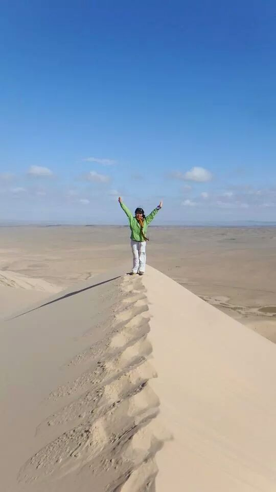 Appreciate your effort and enjoy the process, all in one, while on top of a desert in Gobi, Mongolia.