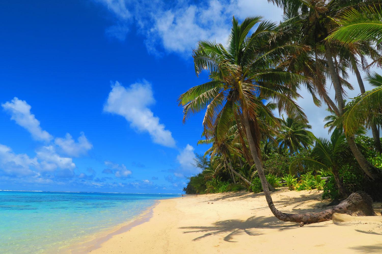 [RAROTONGA]-Titikaveka-Beach