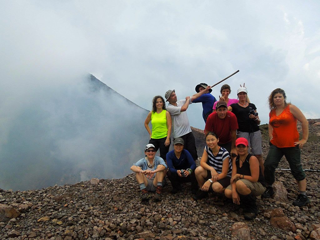 Next to a volcano in Nicaragua during my early years of organizing treks with the DC area outdoor groups. Recently, I self-promoted myself as a CEO.