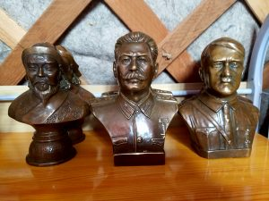 Chinggis, Hitler and Stalin: tourist souvenirs. (only in Mongolia??)