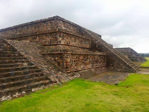 One of the many smaller pyramids that lines the Avenue of the Dead