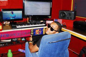 Former gang member Nico Mercado in his studio