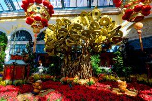 Bellagio Conservatory Chinese New Year display.Friday, February 5, 2016.  CREDIT: Glenn Pinkerton/Las Vegas News Bureau