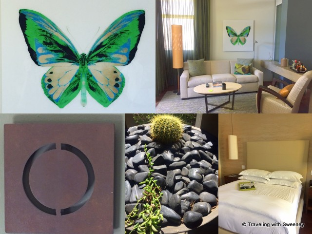 "Artistic touches and interior of Onyx (""O"") Spa Casita"