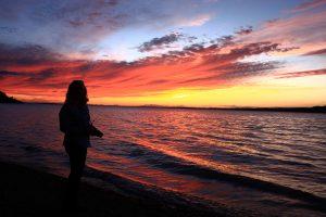 Sunset over Skilak Lake.