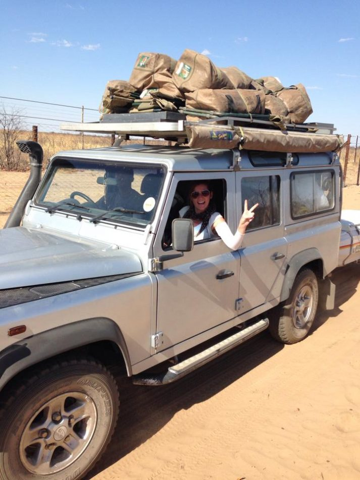 My guide Hans and I on our long-haul trip through Namibia. Kristen Gill Photography - All Rights Reserved.