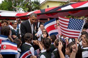 Barak Obama visits student in Costa Rica