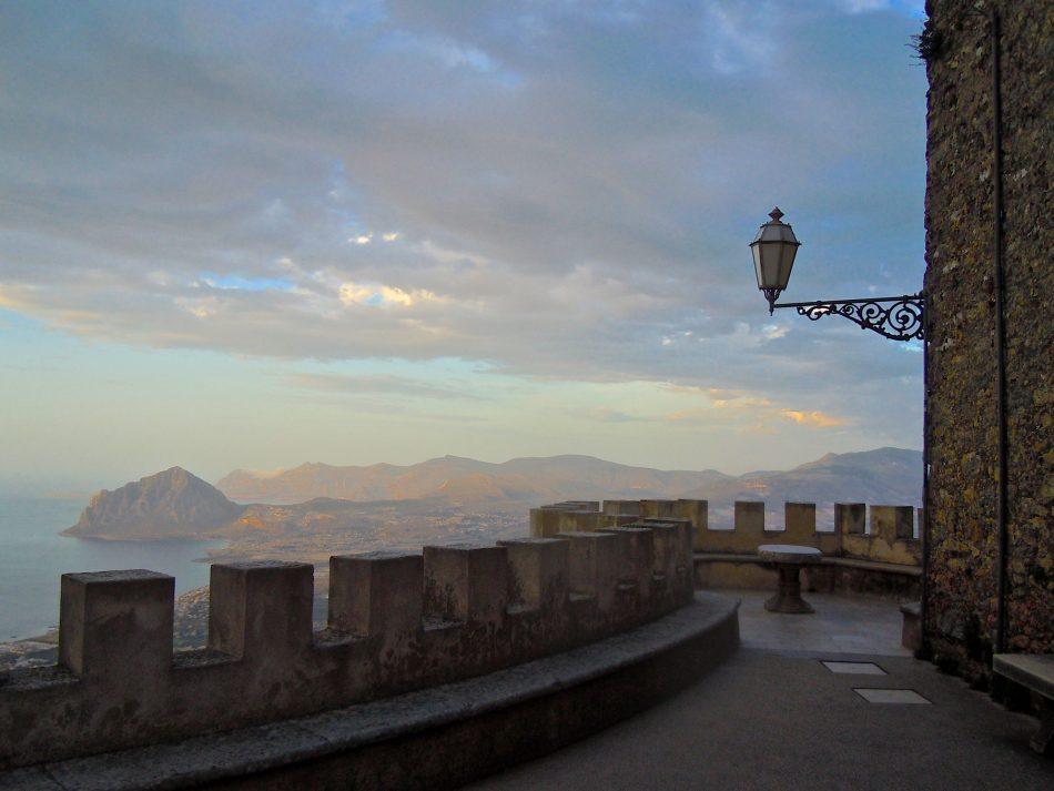 Castle View of Sicily Coast
