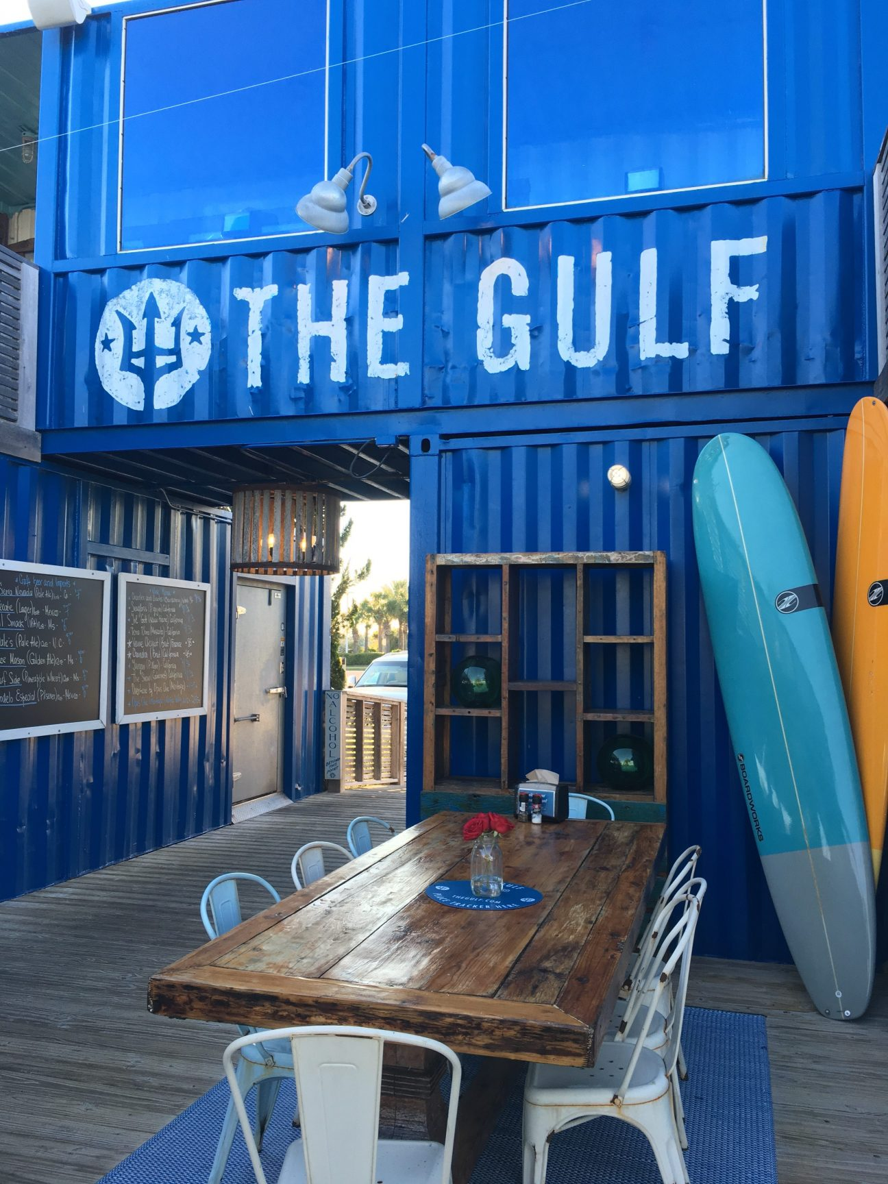 Decor at The Gulf, a seaside restaurant in Orange Beach, Alabama.