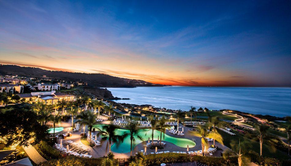 Sunset at Terranea beach resort in southern california