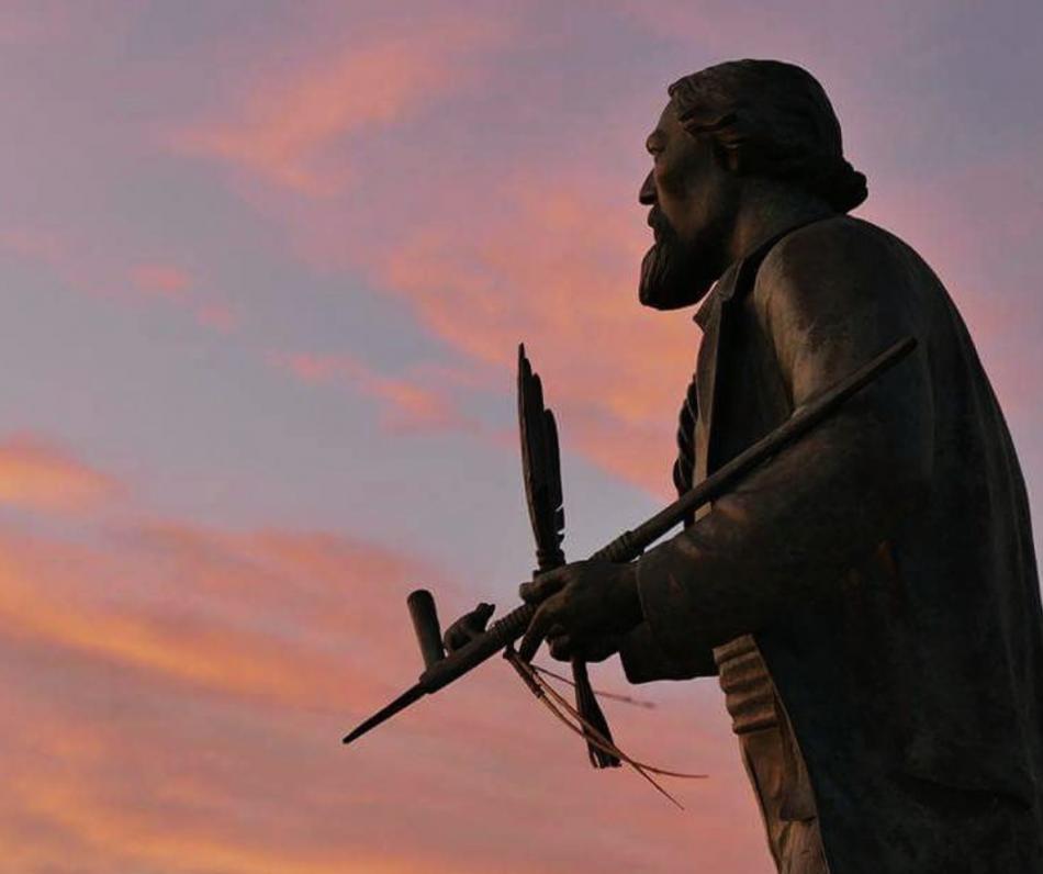 Hemingway Statue in petoskey