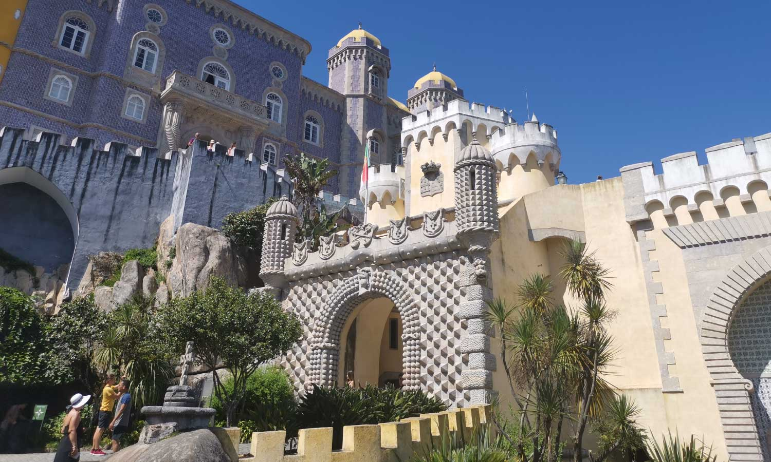 Shows Pena Palace in Sintra - Lisbon travel tips