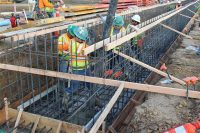 First Foundation Pour for People Mover Train Maintenance Facility Moves Constructions Forward, LAX