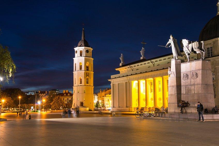 Vilnius Cathedral, main square